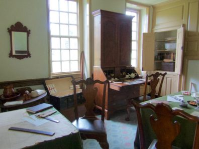 Office at Washington's headquarters at Valley Forge