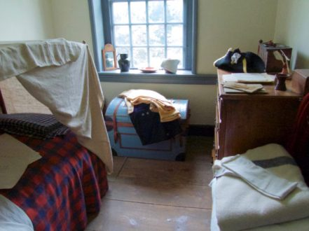 Garret room at General Washington's house in Valley Forge.