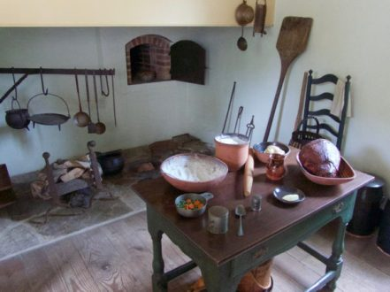 Kitchen at Washington's house at Valley Forge