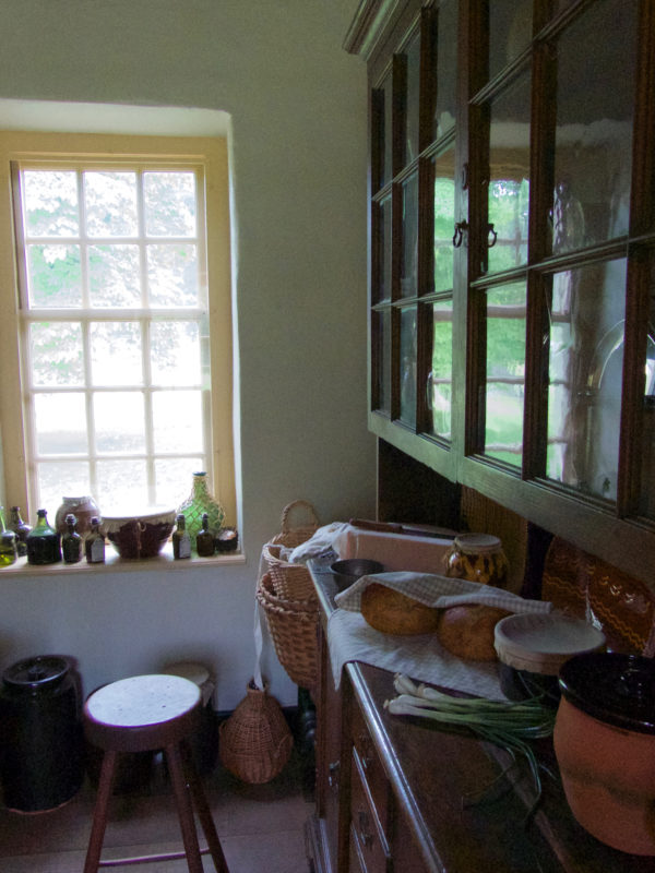 Pantry at General Washington's headquarters house in Valley Forge