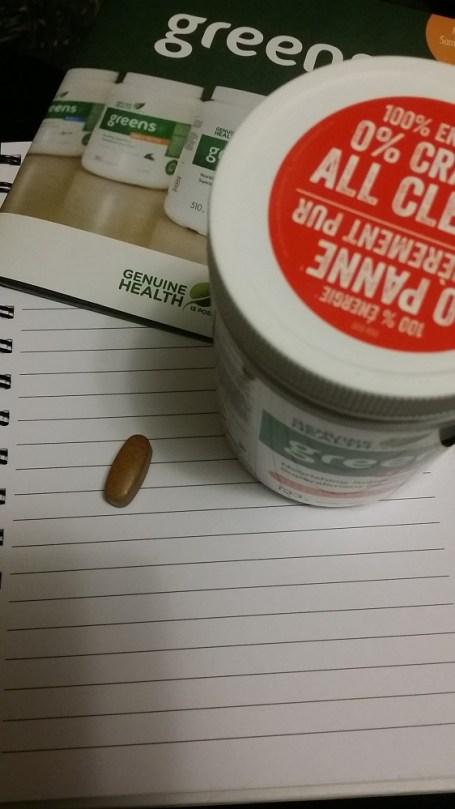 Greens+ vitamin tablet comparison