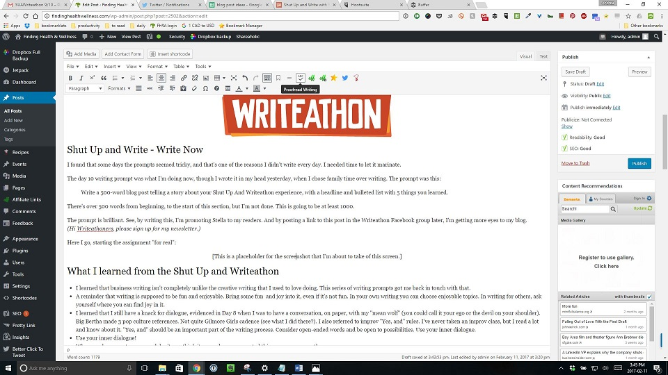 Shut Up and Write: The Blog Post.