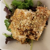 almond-crusted-salmon-greens