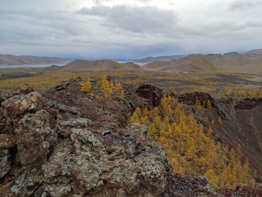 Khorgo Vulkan Landschaft, Mongolei