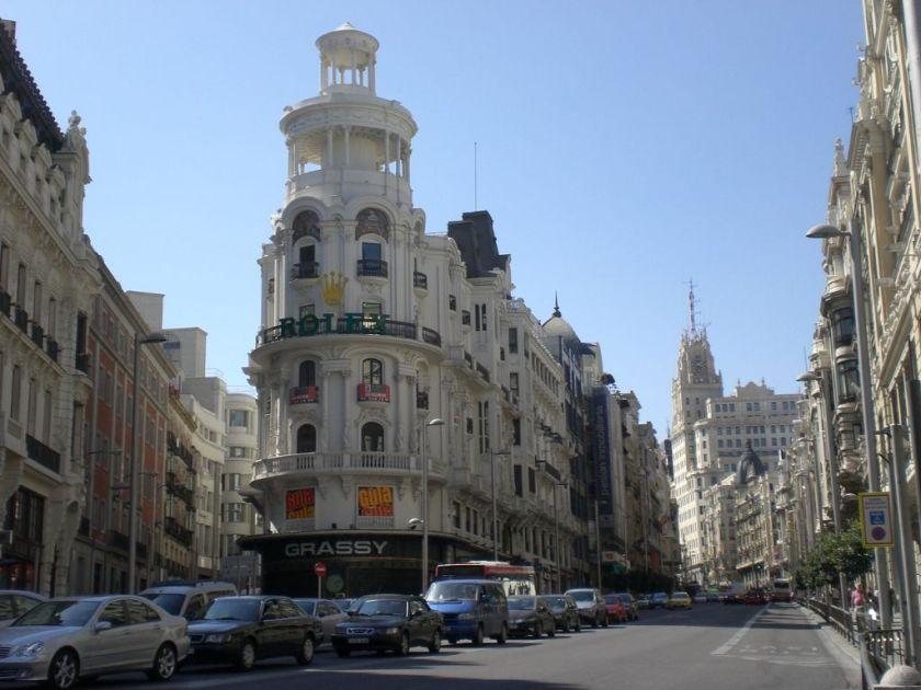 Madrid Spanien Backpacking