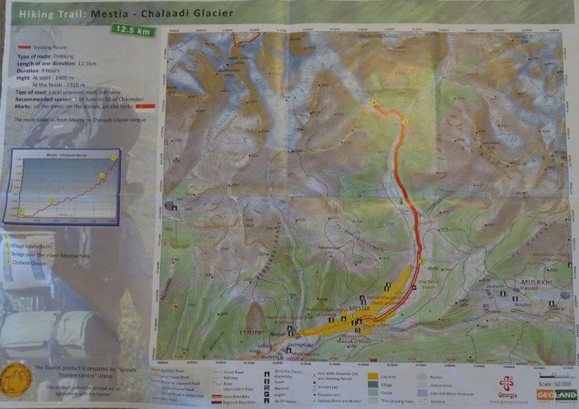 Wanderung Mestia Chalaadi Gletscher Georgien