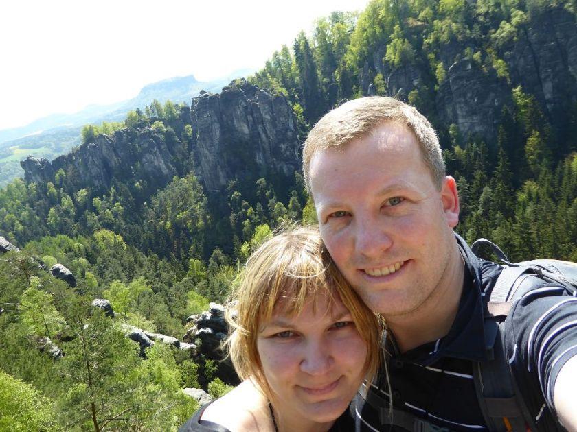 Wehlgrundaussicht Sächsische Schweiz Andi und Janine