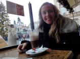 Hot chocolate on the Old Town Square in Prague