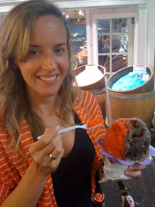 Shaved ice in Lahaina on Maui
