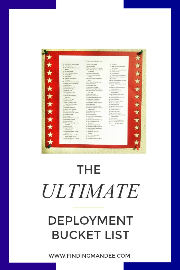 The Ultimate Deployment Bucket List | Finding Mandee