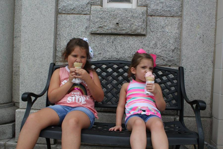 Eating ice cream in Mayberry to keep cool.