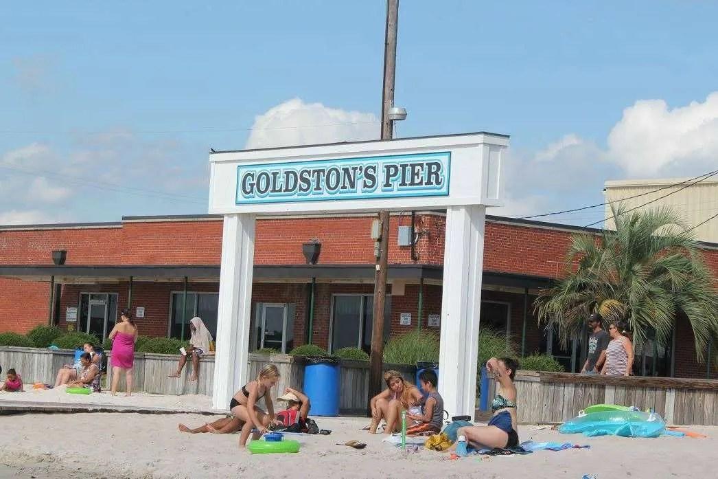 Goldston's Pier sign White Lake, North Carolina