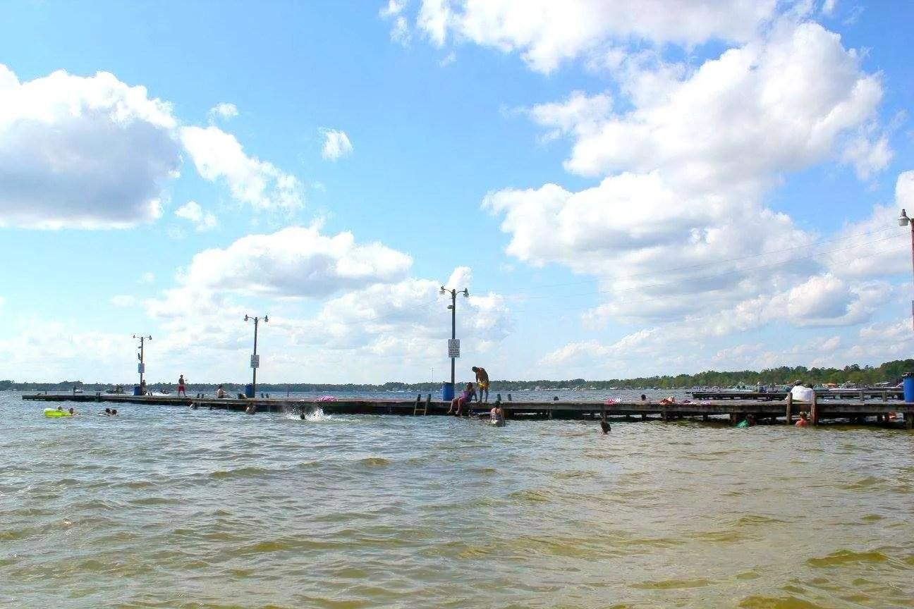 View of Goldston's Pier White Lake North Carolina