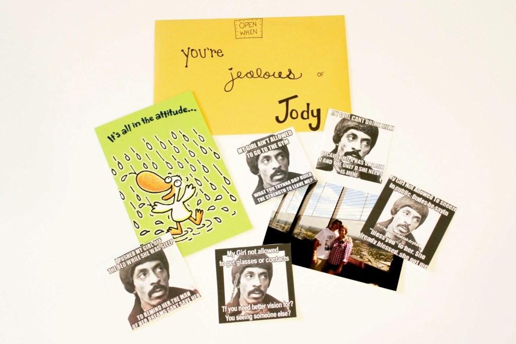 open when letters: open when you are jealous of Jody