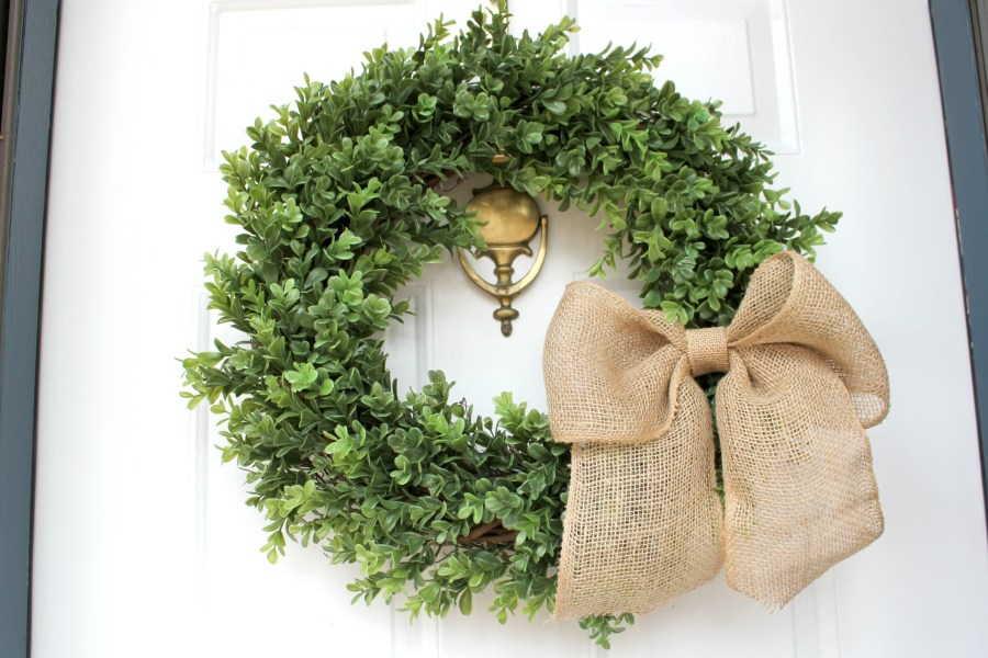 farmhouse boxwood wreath