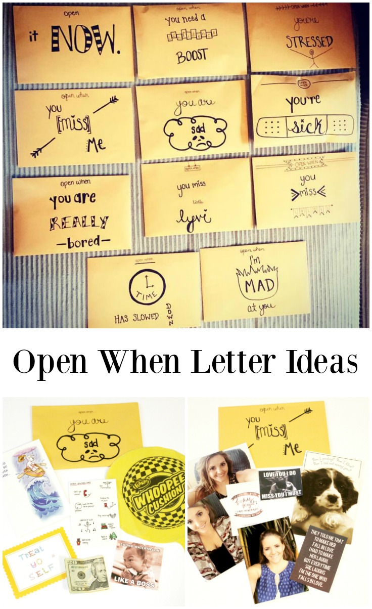 open when letters examples