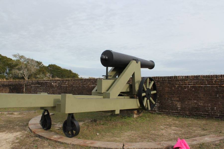 cannon at Fort Barrancas in Pensacola, FL