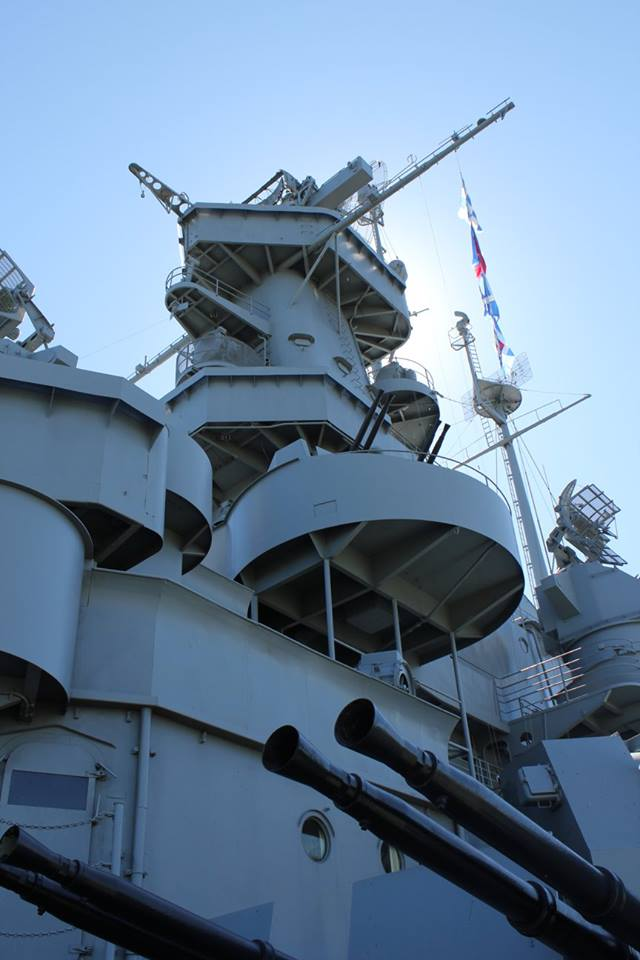 mast of the USS Alabama battleship