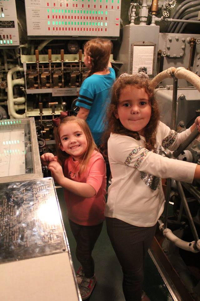kids on the submarine USS Drum