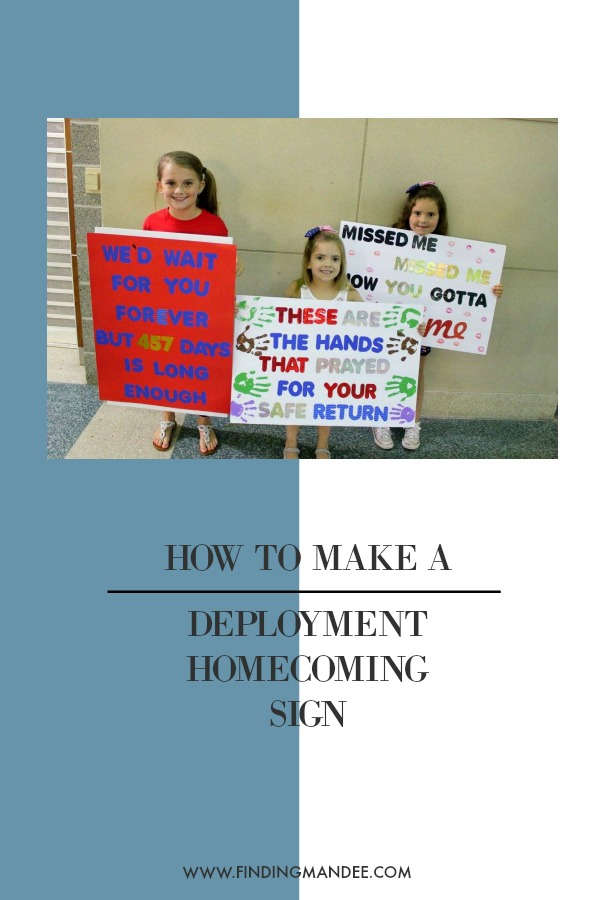How to Make a Deployment Homecoming Sign