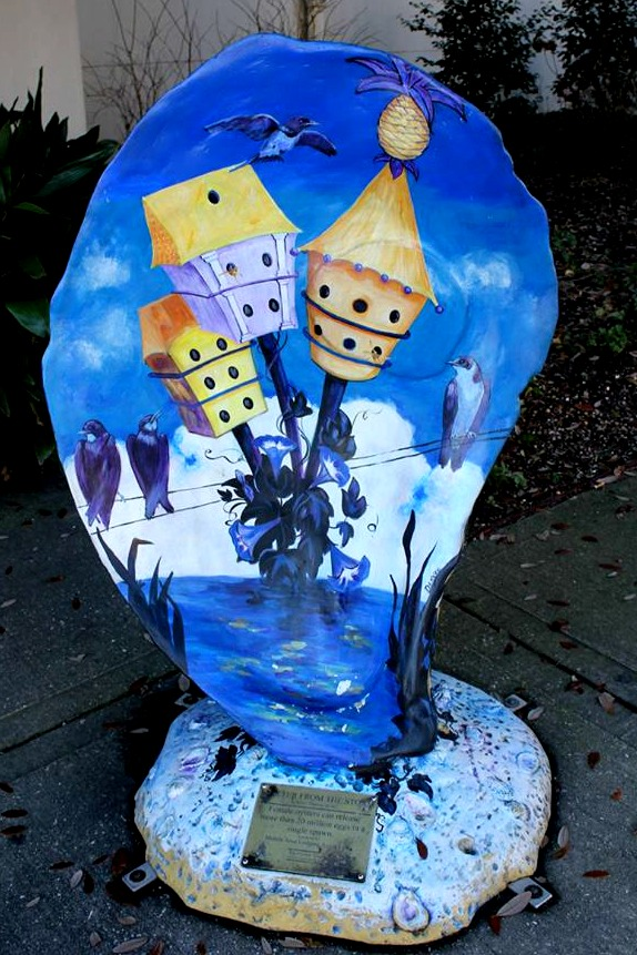 things to do in Mobile: see a painted oyster on the oyster trail in Mobile, AL