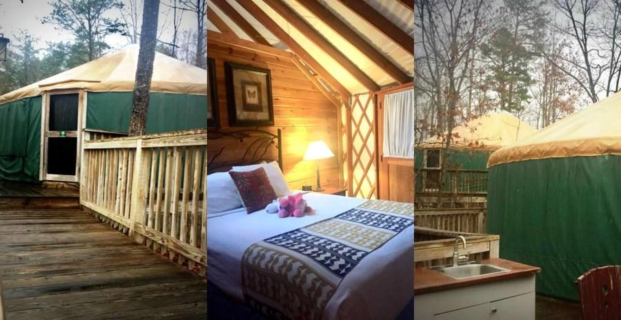 yurt at Shenandoah Crossing in Gordonsville, VA