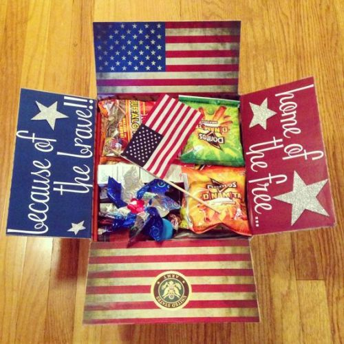 Land of the free because of the brave care package for the 4th of July