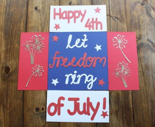 "patriotic care package that says, ""Happy 4th of July: Let Freedom Ring!"""