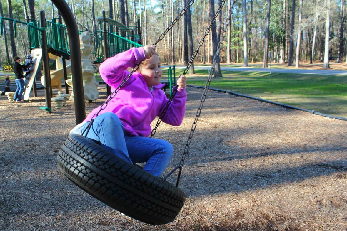 playground at Clark Park in Fayetteville, NC