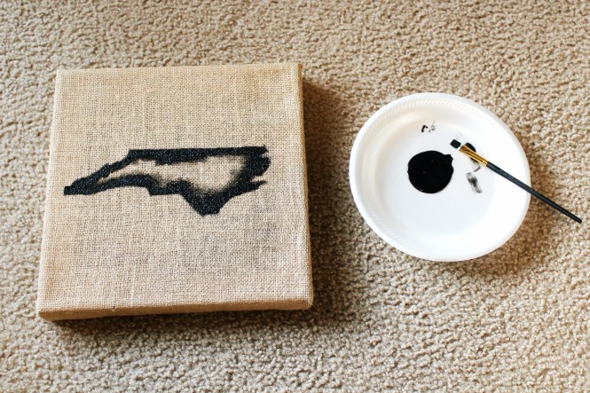 DIY state wall art