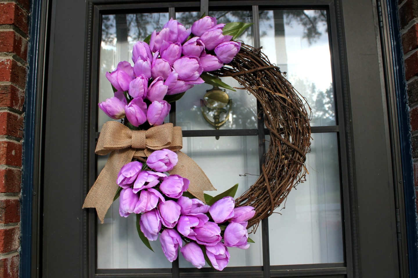 hang your wreath up - you are done