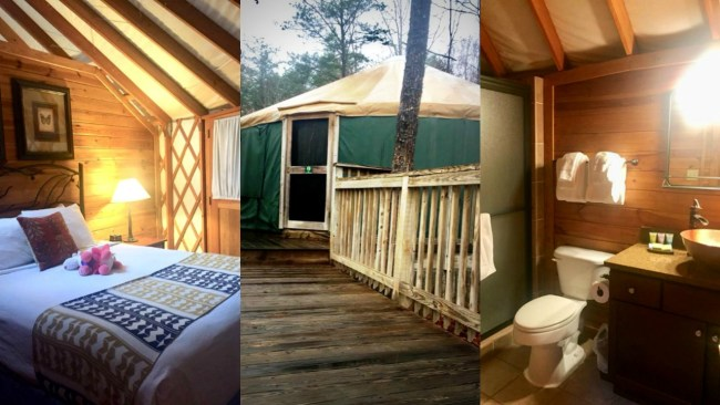 two bedroom yurt at Shenandoah Crossing in Gordonsville, Virginia