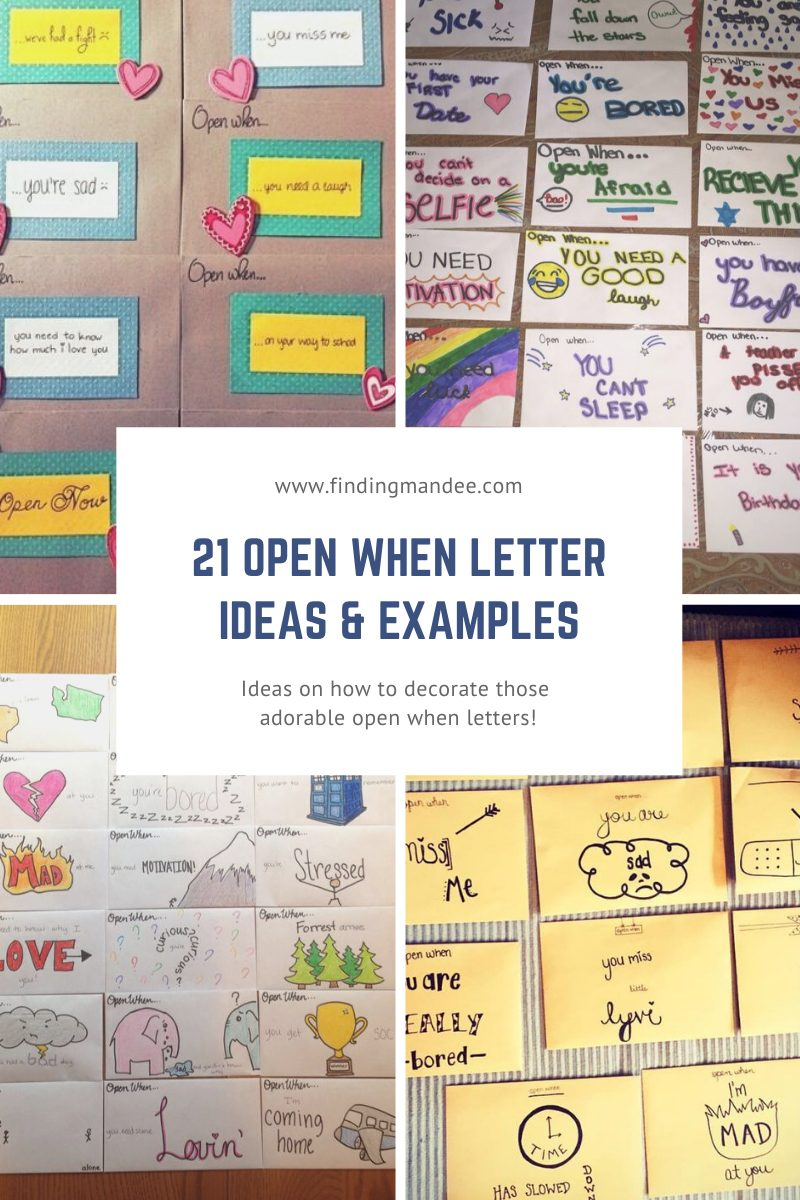 21 Open When Letter Ideas and Examples   Finding Mandee