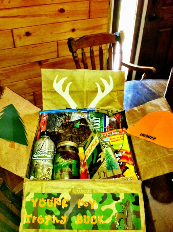 Thanksgiving Care Package Ideas: Send him a hunting themed care package.