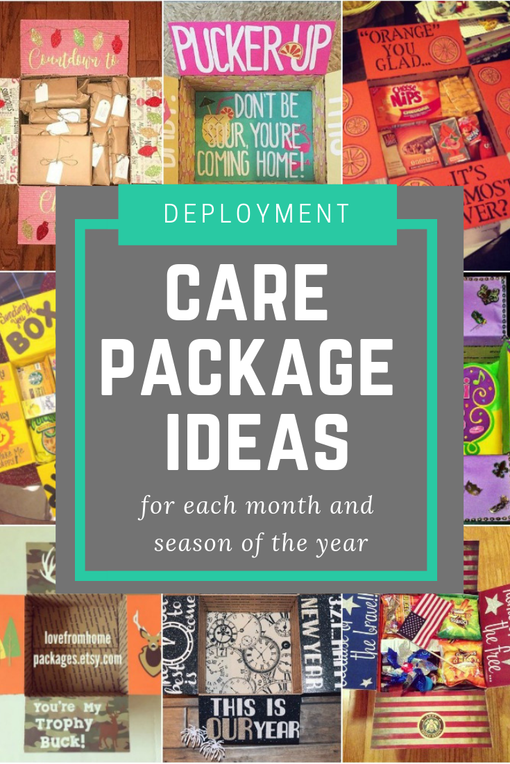 A year of care package ideas by month and season.