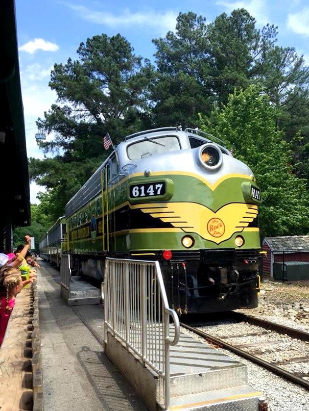 Things to do at Stone Mountain, GA: Ride the Scenic Railroad.