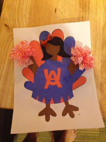 Turkey Disguise: Cheerleader