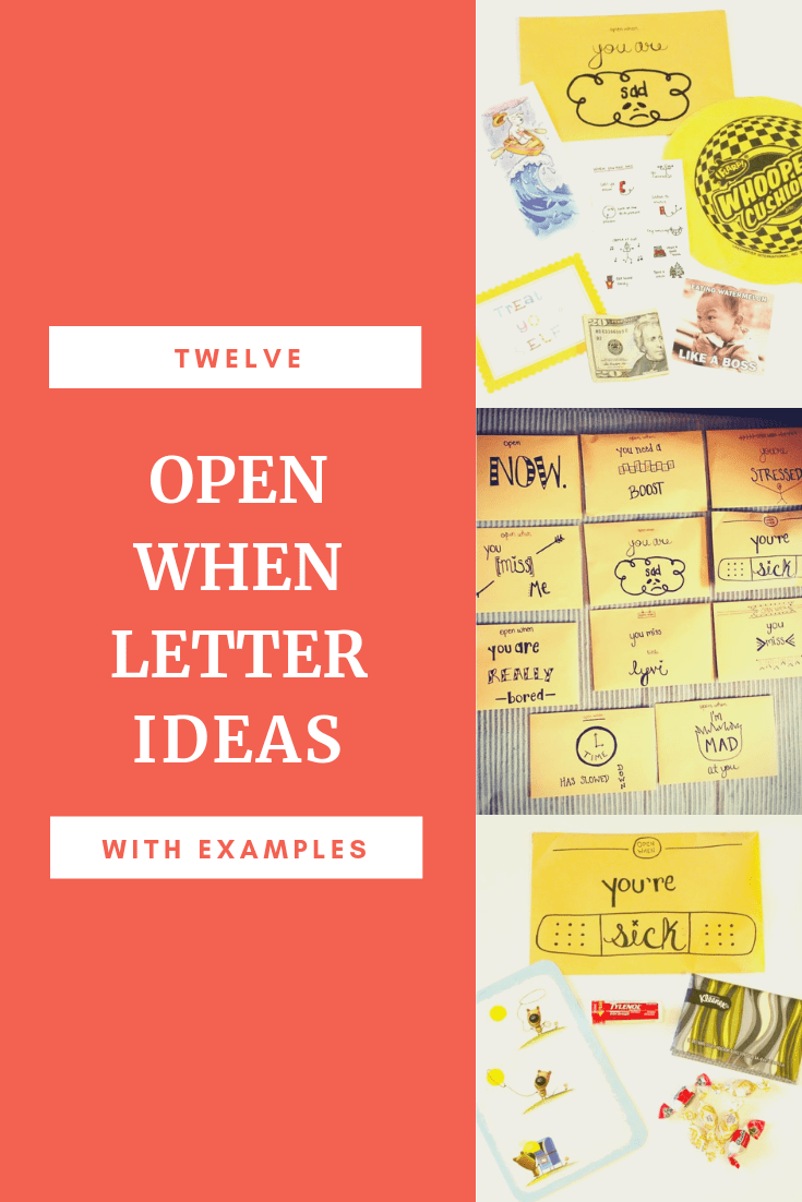 Open When Letter Ideas with Pictures and Examples