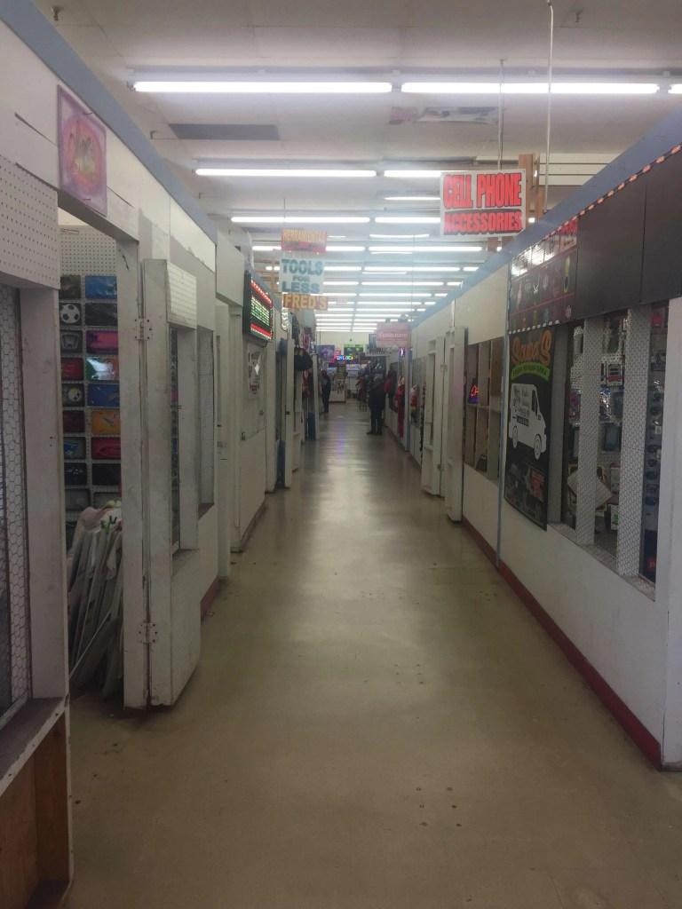 Inside the Bragg Boulevard Flea Market.