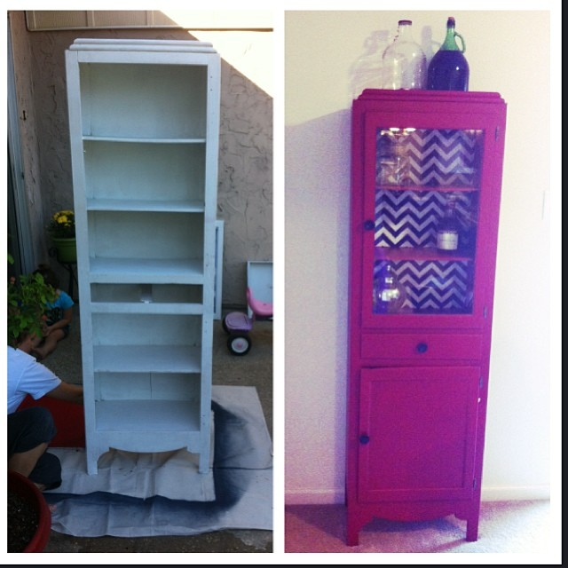 DIY Projects: We turned an antique medicine cabinet into a display case and storage center.