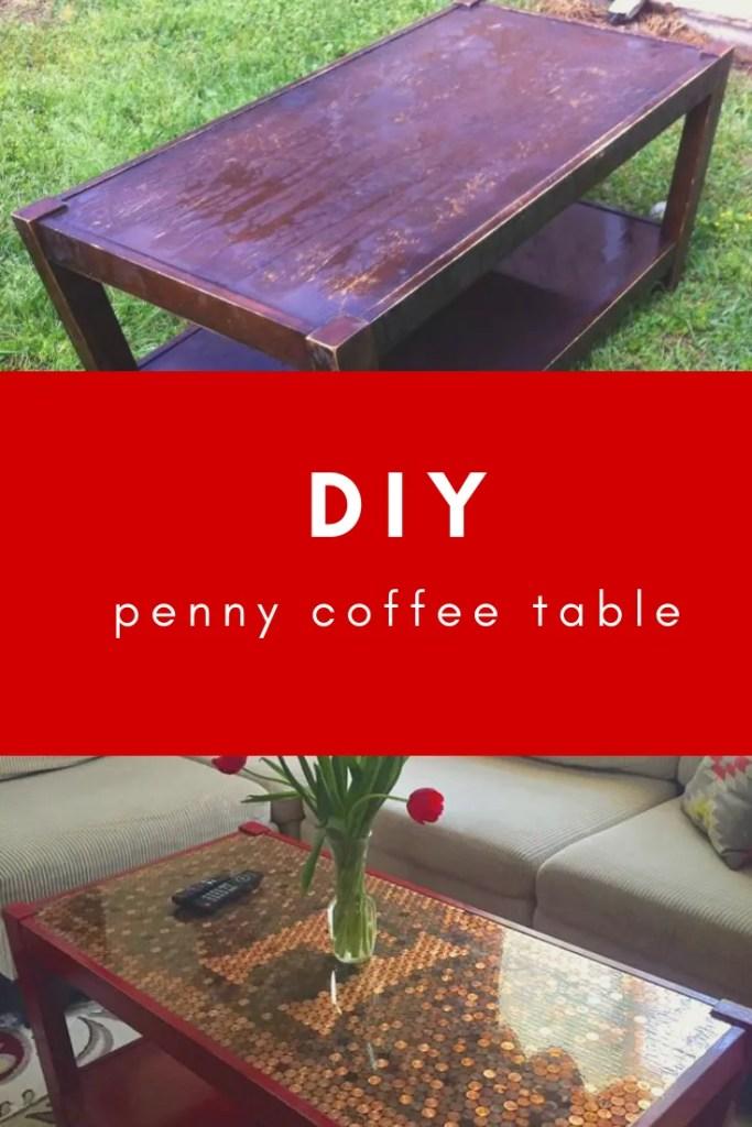 DIY Penny Coffee Table Tutorial | Finding Mandee