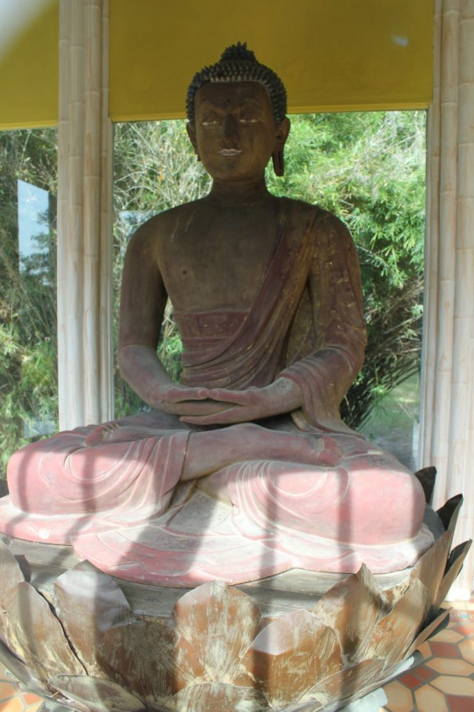 The 900-year-old Buddha statue on Avery Island, Louisiana.