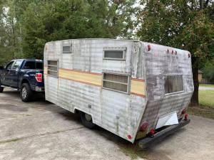 The back side of our Zipper camper.