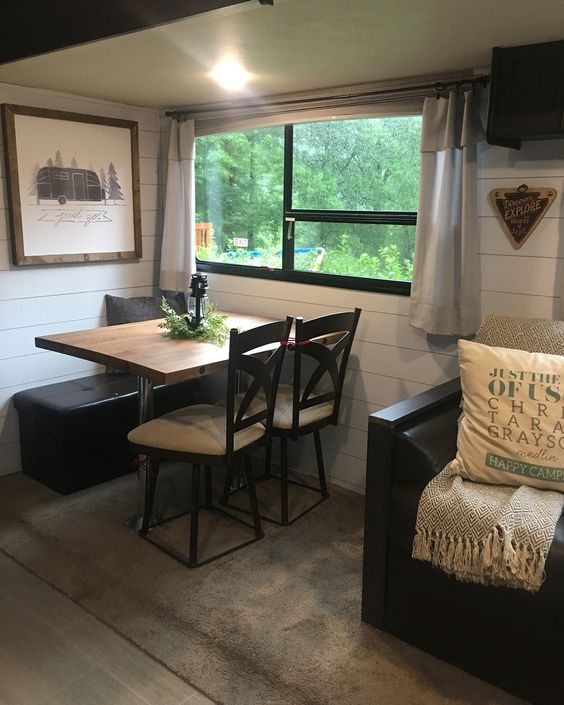 Our farmhouse camper interior would need shiplap.