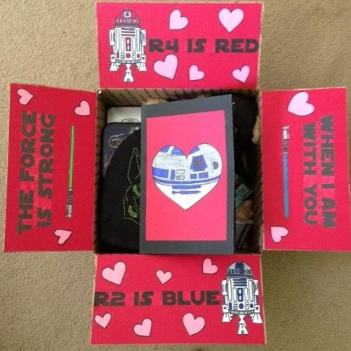 Star Wars Valentine's Day care package.