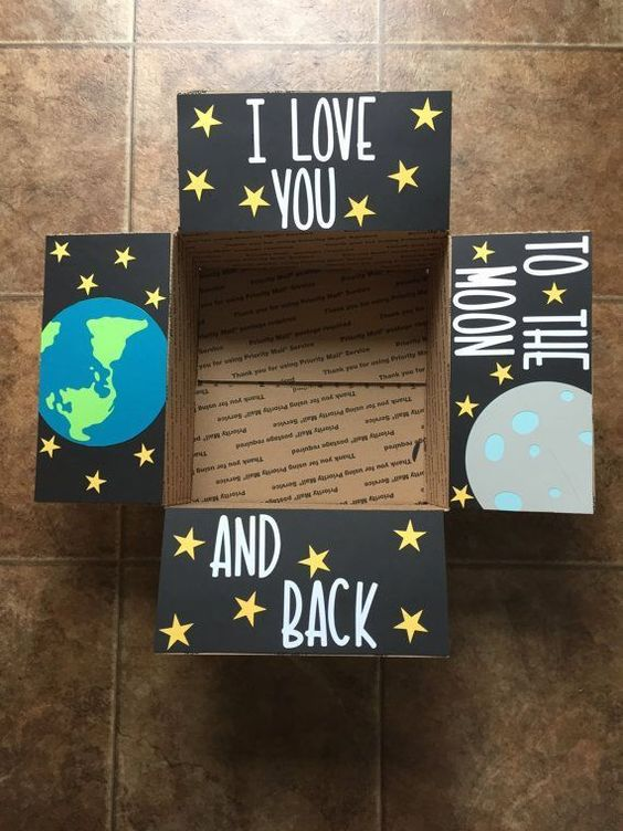 I love you to the moon and back care package.