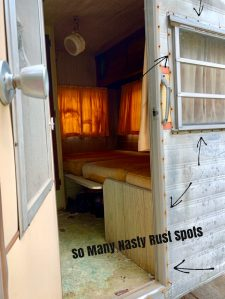 How to clean rusty camper windows.