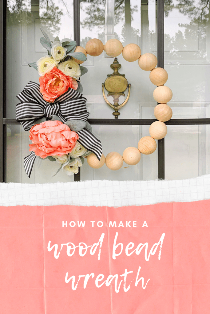 How To Make a Wood Bead Wreath | Finding Mandee