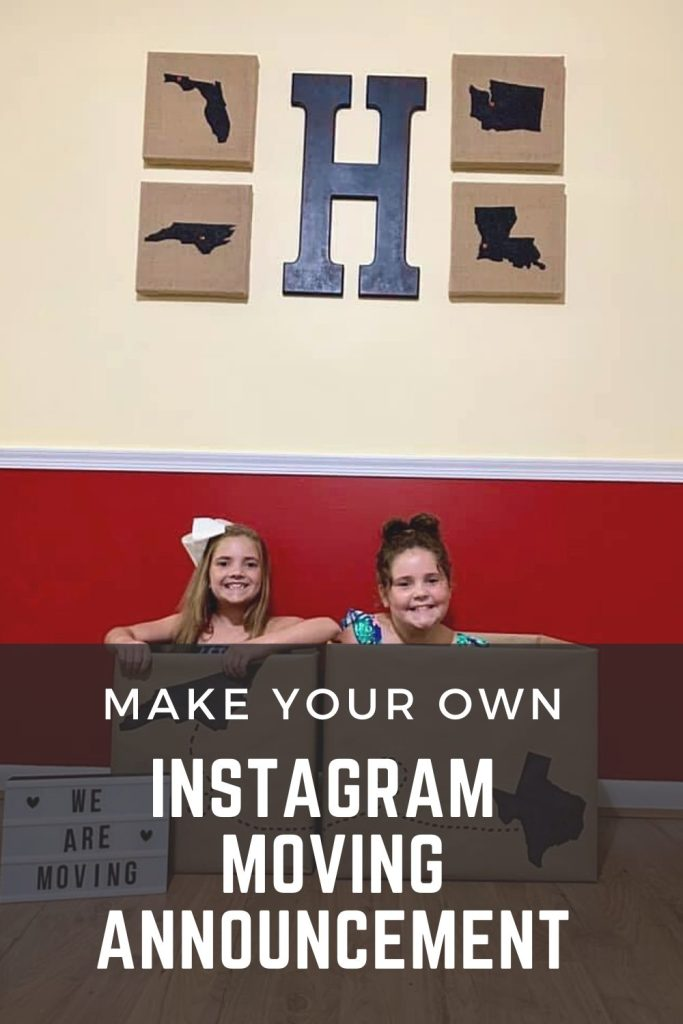 Make Your Own Instagram Moving Announcement | Finding Mandee