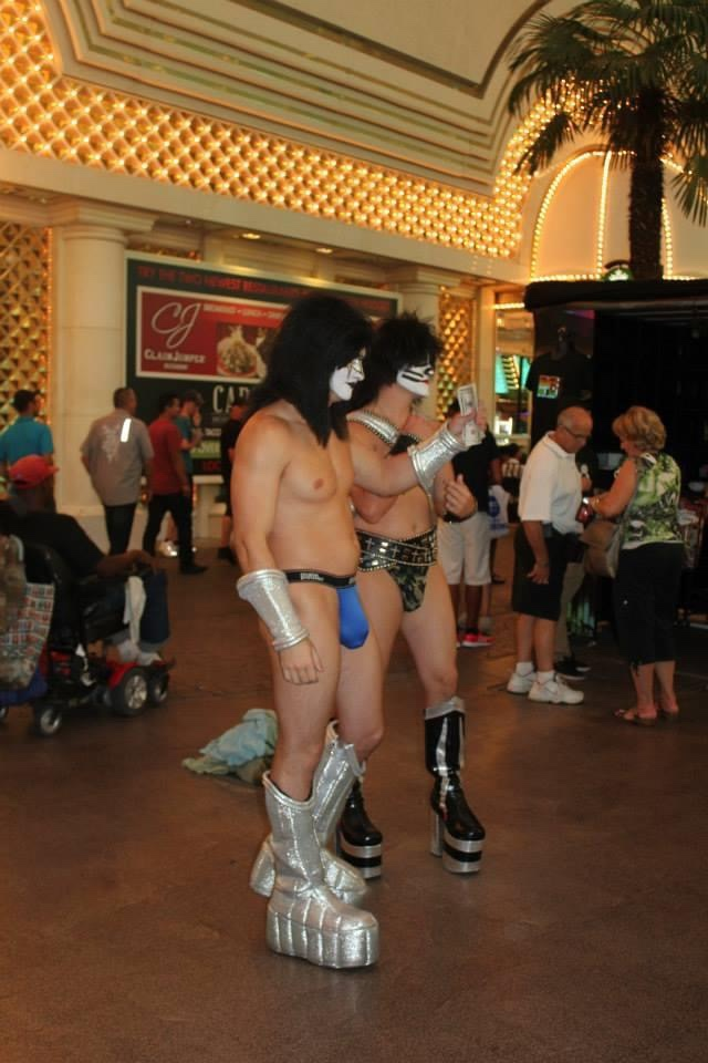 Street performers in Vegas.